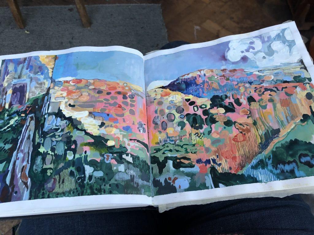 Sketchbook landscape