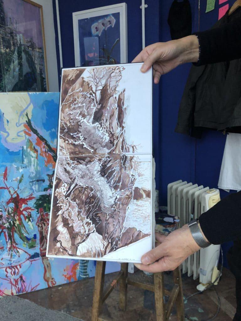 Julian Vilarubi Costa Brava Rocks, Spanish sketchbook