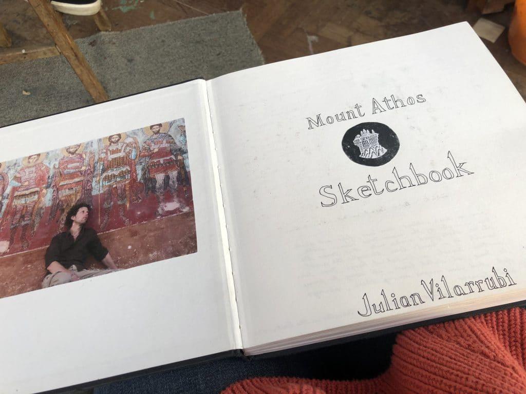 Julian Vilarubi Mount Athos sketchbook