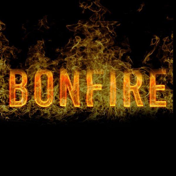 Burning type saying bonfire